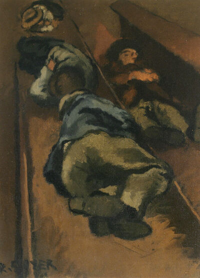 Raphael Soyer, 'Along the Tracks', ca. 1934