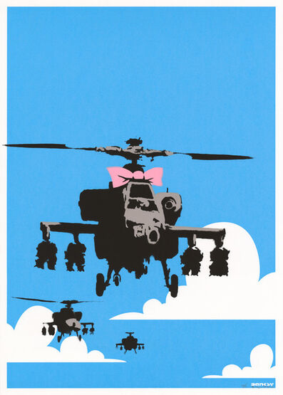 Banksy, 'Happy Choppers (Signed)', 2003