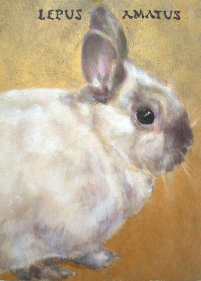 "Rebecca George, 'Lepus Amatus (Latin,""Beloved, Rabbit Is"")', 2016"