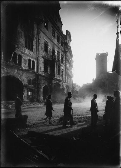 Josef Sudek, 'Place de la Vieille Ville – vue depuis la rue Celetná', 1945