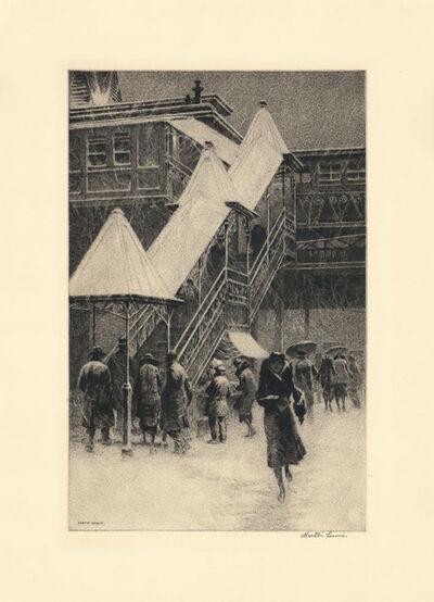 "Martin Lewis, 'Snow on the ""El""', 1931"
