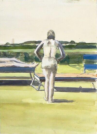 Sidney Goodman, 'Figure at the Shore', ca. 1972