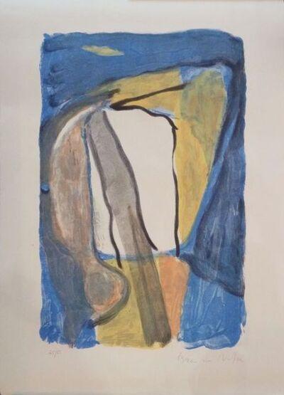 Bram van Velde, 'Composition blue and yellow', 1971