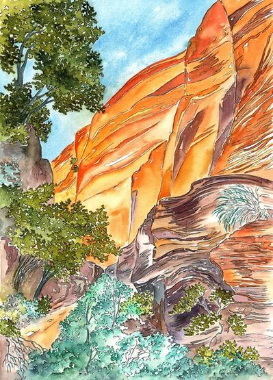 Scott Winterrowd, 'Orange Cliff, Green Tree, Zion NP', 2018