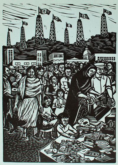 Elizabeth Catlett, 'Contribución del Pueblo a la Expropiación Petrolera. 18 de Marzo de 1938', 1960