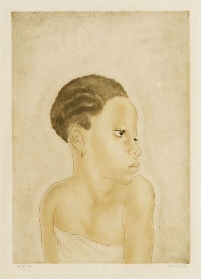 Léonard Tsugouharu Foujita, 'LA PETITE AFRICAINE', 1929