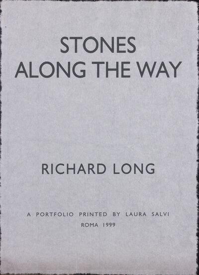 Richard Long, 'Stones Along The Way - Portfolio', 1999