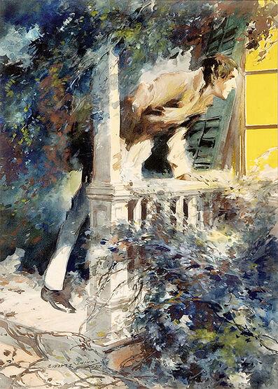 Everett Shinn, 'Man looking into Window', 1917