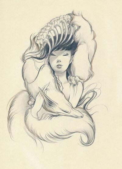 Ozabu, 'Kitsune Sketch 1', 2019
