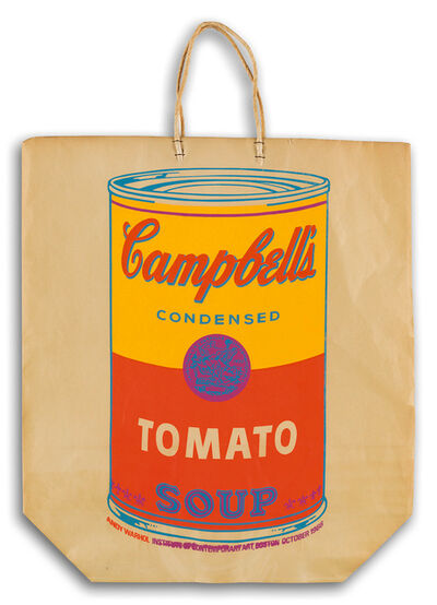 Andy Warhol, 'Warhol Campbell's Soup Can on a Shopping Bag', 1966
