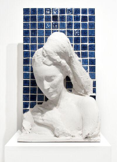 George Segal, 'Woman Against a Blue Tile Wall', 1983