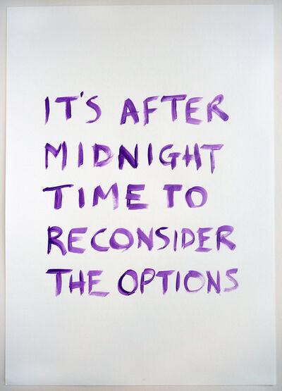 Tim Etchells, 'After Midnight ', 2015