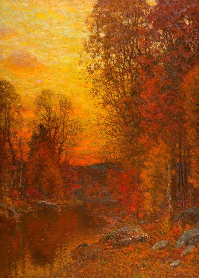 John Joseph Enneking, 'Golden Autumn Twilight', 1897