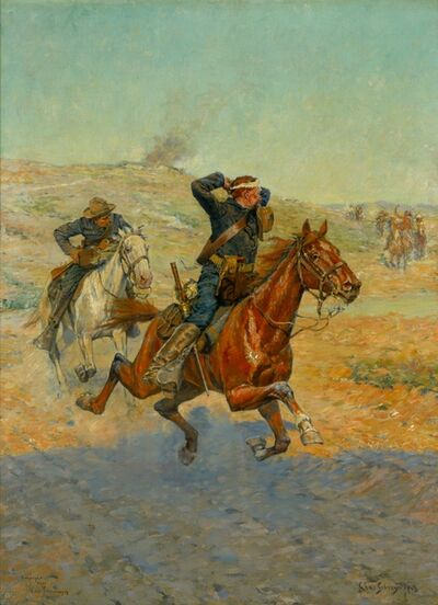 Charles Schreyvogel, 'Going for Reinforcements', 1901