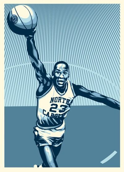 Shepard Fairey, 'Michael Jordan - Hall of Fame', 2009