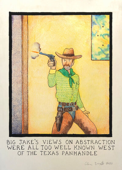 Glen Baxter, 'Big Jake's views on abstraction...', 2020
