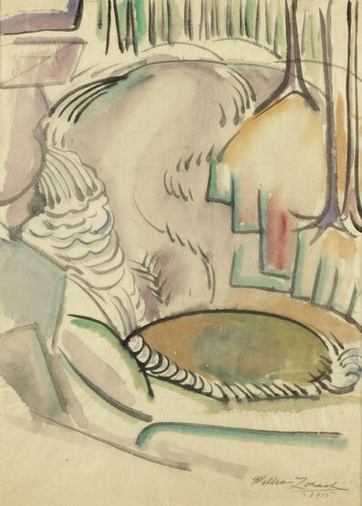 William Zorach, 'Landscape with Waterfall', 1915