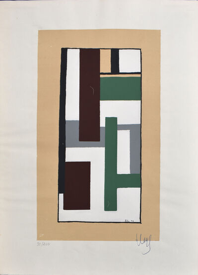 Fernand Léger, 'Geometric Composition, from: Album of Ten Serigraphs', 1924