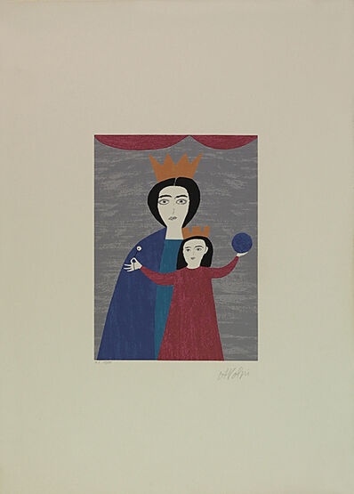 Alfredo Volpi, 'Queen and Princess', 1970-1980