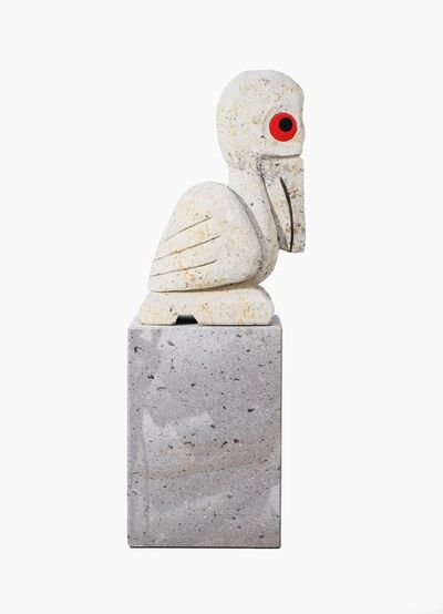 Olaf Breuning, 'Pelican', Lemon white stone-glass eyes