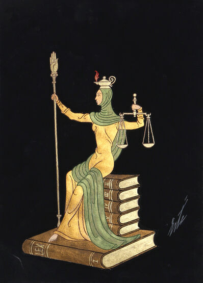 Erté (Romain de Tirtoff), 'Lady Justice', ca. 1970