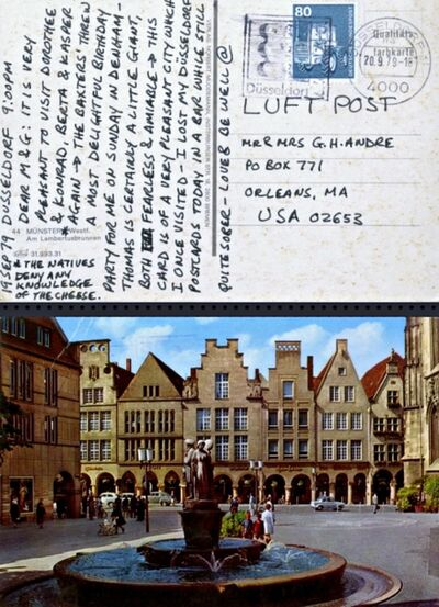 """Carl Andre, 'Letter from Dusseldorf: ...""""very pleasant to visit Dorothee and Konrad...""""', 1979"""