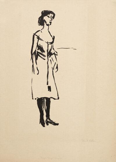 Emil Nolde, 'Tingel-Tangel-Sängerin', 1907