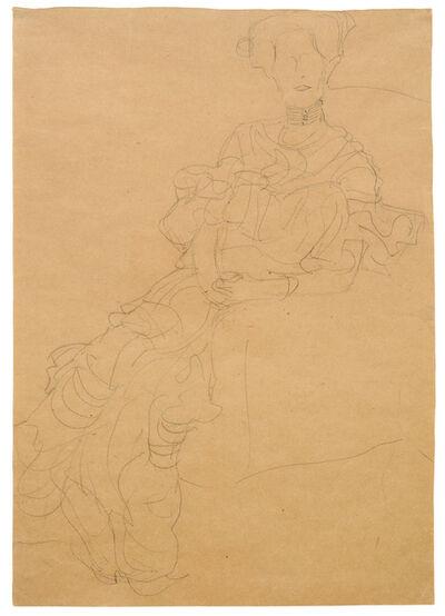 Gustav Klimt, 'Study for Portrait of Fritza Riedler', 1904-1905