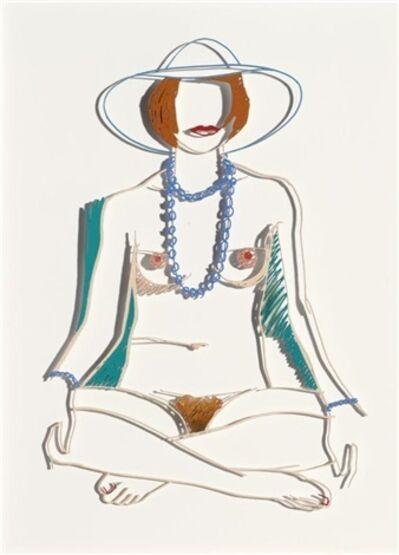 Tom Wesselmann, 'Monica Sitting Cross Legged with Beads', 1985-2004