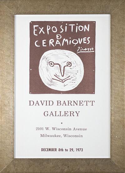 Pablo Picasso, 'Exposition Ceramiques Picasso David Barnett Gallery', 1973