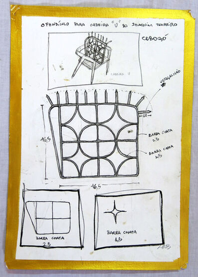 """Daniel Murgel, 'Projeto para ofendículo Cobogó para cadeira """"U"""" do Joaquim Tenreiro [Project to """"Cobogó"""" barrier to """"U"""" chair by Joaquim Tenreiro]', 2015"""