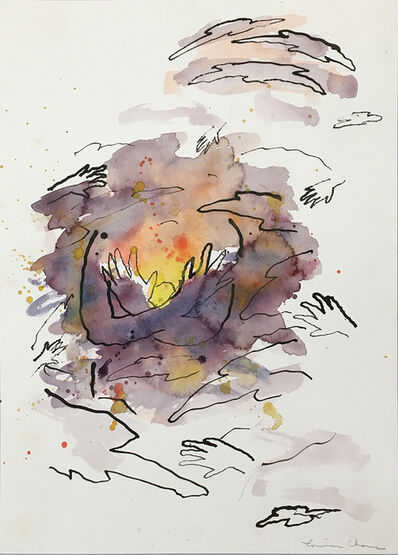 Louisa Chase, 'Untitled (Sunset with Hands) ', about 1984