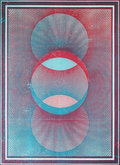 Gwenaël Rattke, 'Projections II (blue & red)', 2012