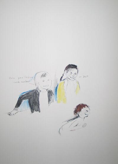 Douglas Kolk, 'Gabe you fucking cock sucker', 1994