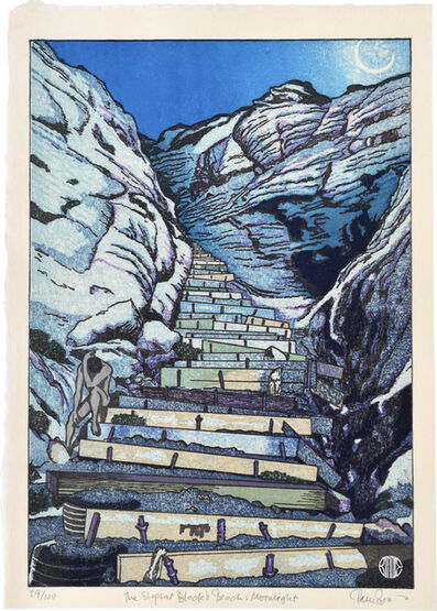 Paul Binnie, 'The Steps at Black's Beach: Moonlight', 2020