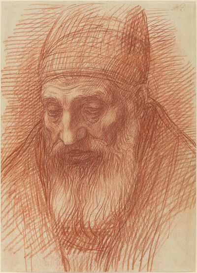 Alphonse Legros, 'Head of a Priest'