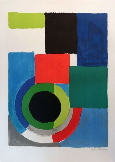 Sonia Delaunay, 'Grand Carré Rouge ', 1970