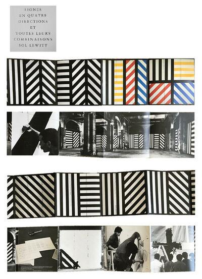 """Sol LeWitt, '""""LIGNES EN QUATRE DIRECTIONS ET TOUTES LEURS COMBINAISONS SOL LEWITT"""", 1983, Exhibition Invitation/Catalogue, Musee D'Art Contemporain France', 1983"""