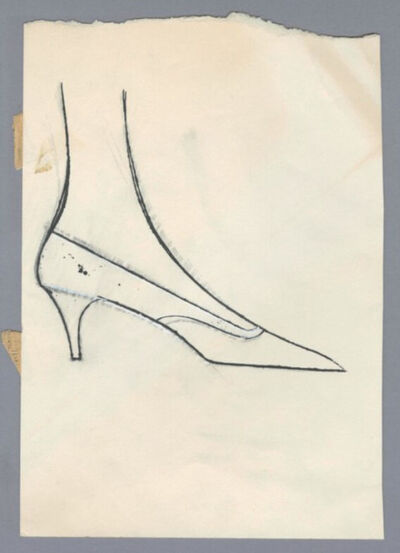 Andy Warhol, 'Shoe', ca. 1956