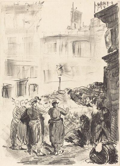 Édouard Manet, 'The Barricade (La barricade)', 1871