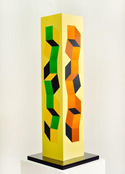 Mateo Manaure, 'Columna escultórica policromada', 2002