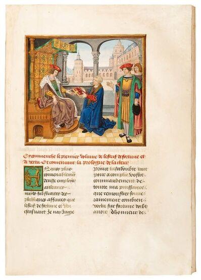 """Circle of Antoine Rolin, 'Martin Le Franc: """"Livre de L'estrif de Fortune et de Vertu""""', 1482-1519"""
