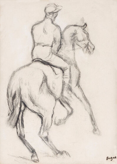 Edgar Degas, 'Jockey à cheval', 1834-1917
