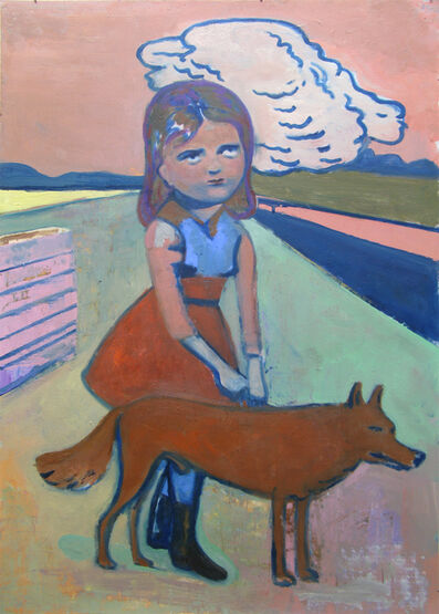 Stephanus Heidacker, 'Girl with Dog', 2012