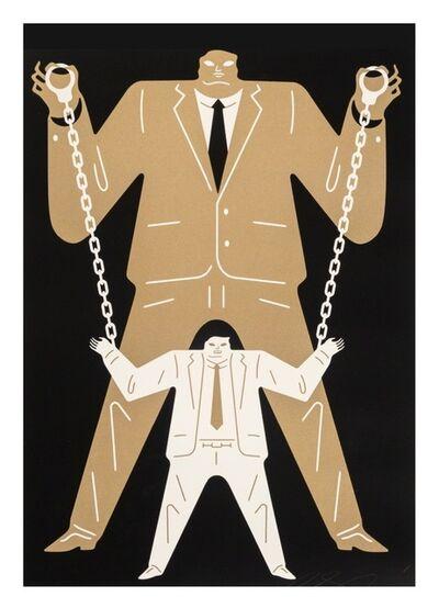 Cleon Peterson, 'Little Man Big Man / Mueller - Gold', 2018