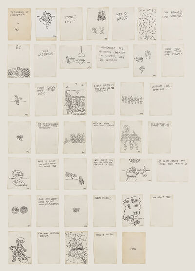 William Nelson Copley, 'Techniques of Fornication (Unbound Book of Drawings)', ca. c. 1991/2