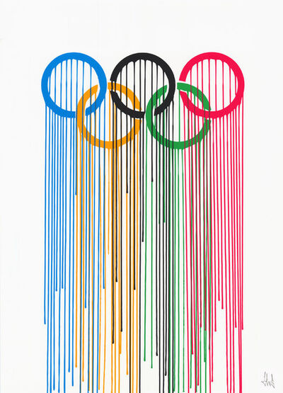 Zevs, 'Liquidated Olympic Rings', 2012