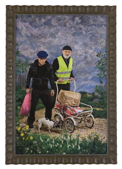 Pierre et Gilles, 'Bonjour Pierre et Gilles (Self-portrait after Courbet)', 2020