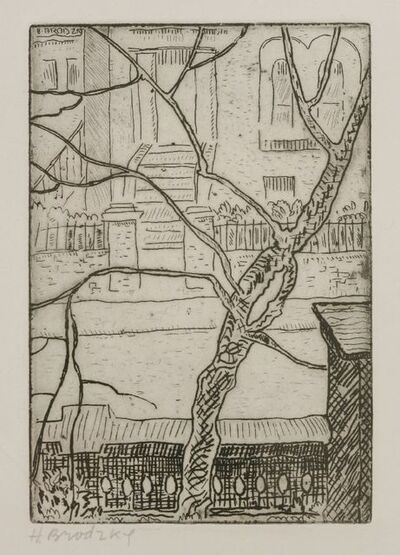 Horace Ascher Brodzky, 'Street With Trees'