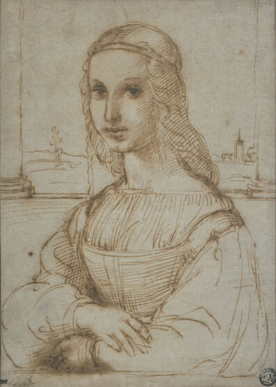 Raphael, 'Femme en buste, de trois quarts vers la gauche, les bras croisés (Bust of a woman, in three-quarters profile facing left, with folded arms)'